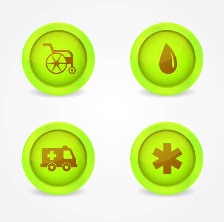 Vector set of medical icons on white background Vector
