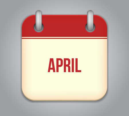 calendar app icon Stock Vector - 19050389