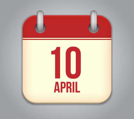 calendar app icon Stock Vector - 19050375