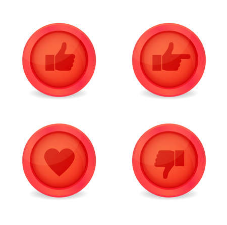 Set of glossy internet icons. Vector icons Stock Vector - 19270657