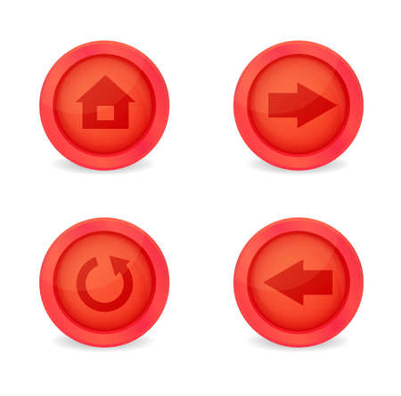 Set of glossy browser icons. Vector icons Stock Vector - 19270650