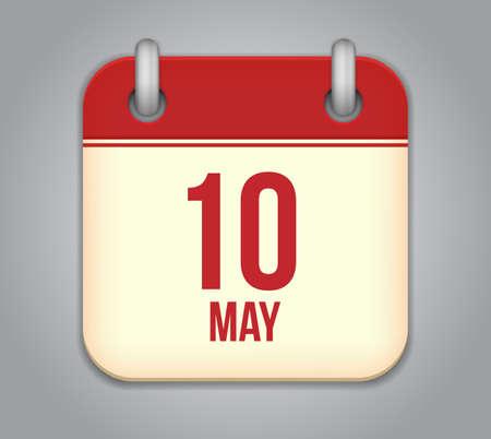 tenth: Vector calendar app icon