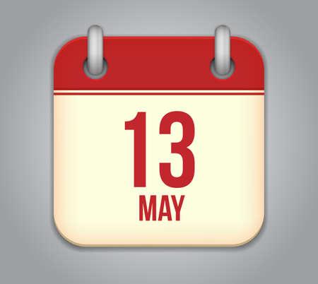 Vector calendar app icon photo