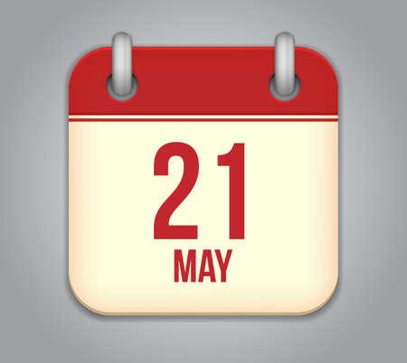 Vector calendar app icon Stock Vector - 19270615
