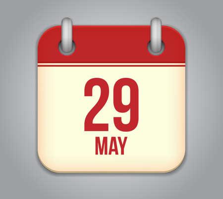 矢量日历应用程序图标