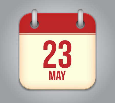 Vector calendar app icon Stock Vector - 19270635