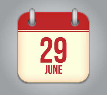 Vector calendar app icon Stock Vector - 19352180