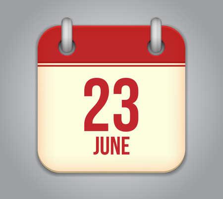 Vector calendar app icon Stock Vector - 19352181