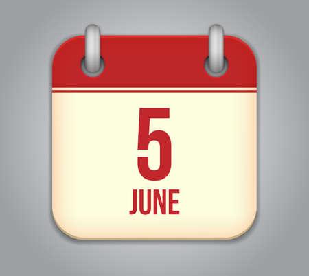 Vector calendar app icon Stock Vector - 19352171