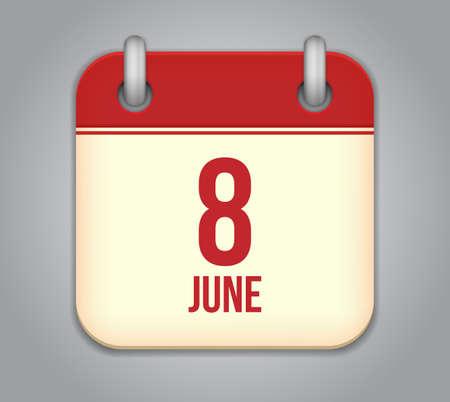 Vector calendar app icon Vector