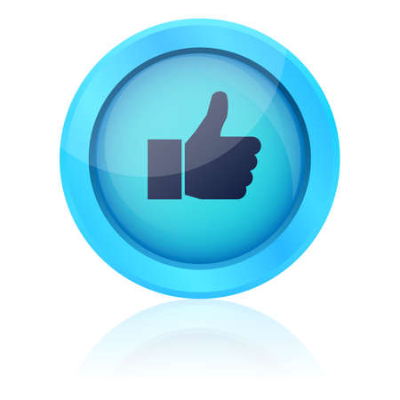Blue vector like button Vector