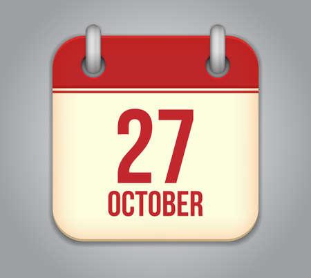 Vector October calendar app icon Stock Vector - 20181965