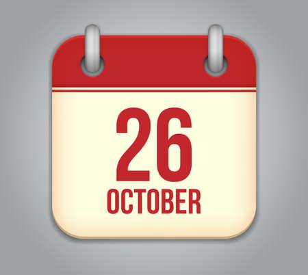 ベクトル 10 月カレンダー アプリのアイコン  イラスト・ベクター素材