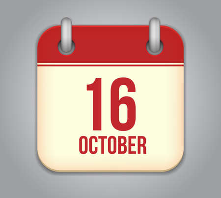 Vector October calendar app icon Vector