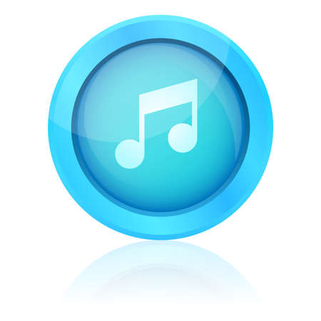 Blue vector music button Vector