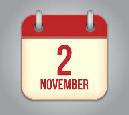 2 months: Vector November calendar app icon
