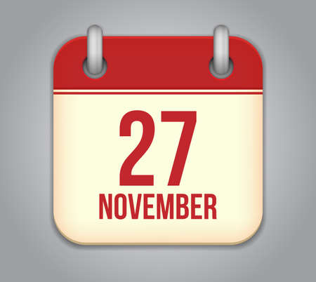 Vector November calendar app icon Stock Vector - 20724876