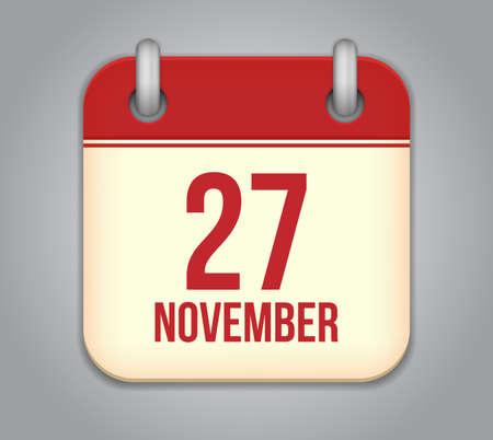 Vector November calendar app icon Stock Vector - 20724876