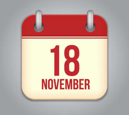 Vector November calendar app icon Reklamní fotografie - 20724872