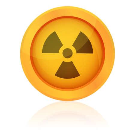Vector radiation symbol Stock Vector - 20913366