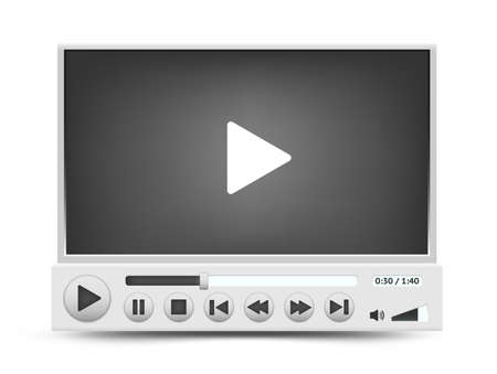 windows media video: Vector interfaz del reproductor de v�deo Vectores