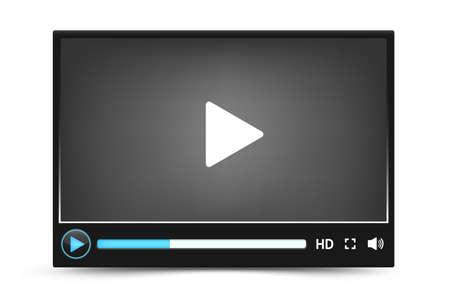 浅黒い肌のベクトルのビデオ プレーヤーのインターフェイス