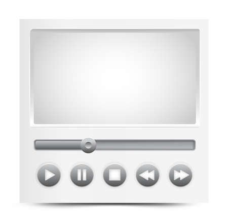 simple video player interface Illustration