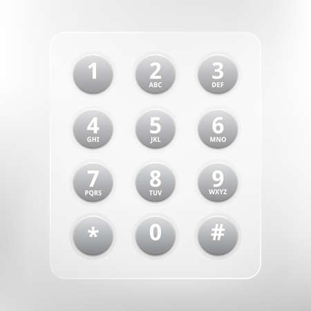 phone numbers with alphabet keyboard Illustration