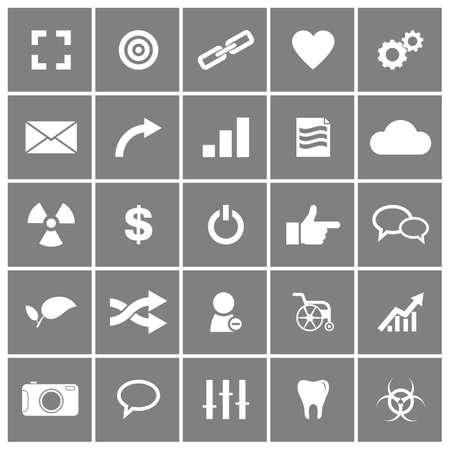 Universal Flat Icons Set Ilustrace