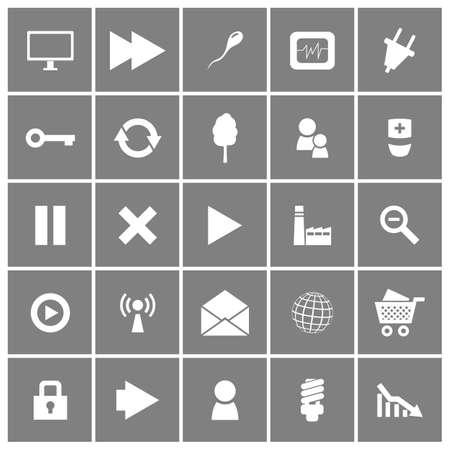Universal Flat Icons Set Illustration