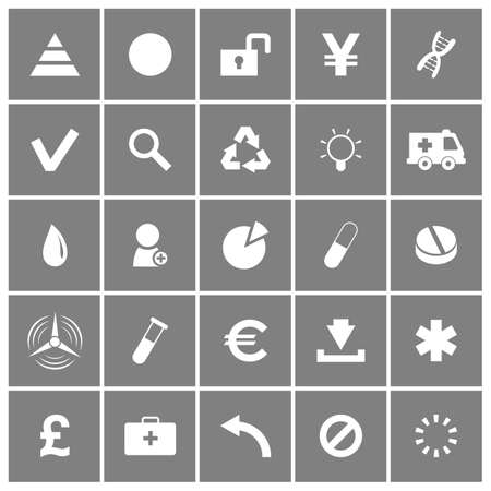Universal Flat Icons Set Vector