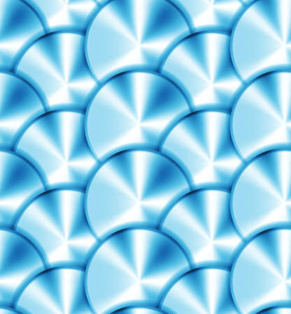 wickerwork: Seamless pattern with metallic circles
