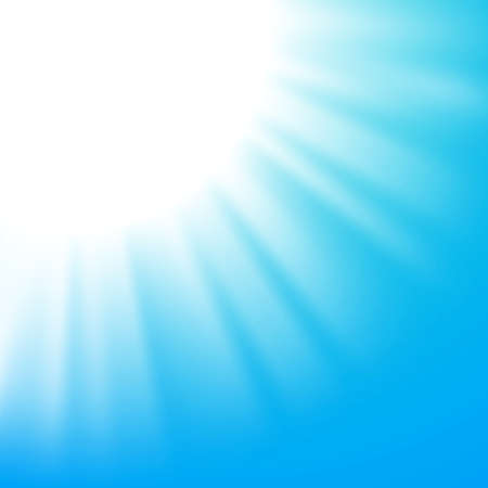 Vector abstract background with sun on blue sky Vector