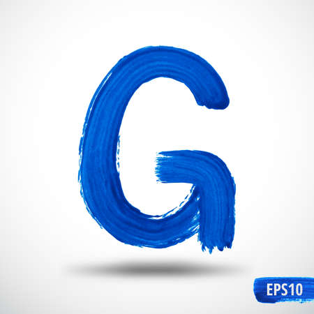 Alphabet Letter G. Watercolor Alphabet. Vector