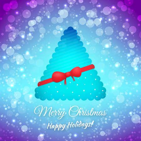 Christmas Tree. Ribbon And Bow. Stock Vector - 23257648