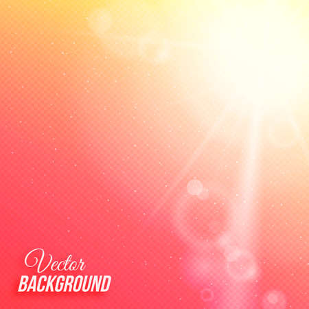Vector abstract background with sun and transparent grid Çizim