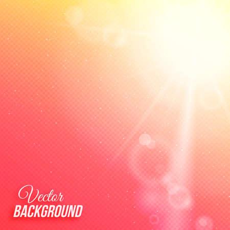 Vector abstracte achtergrond met zon en transparante raster
