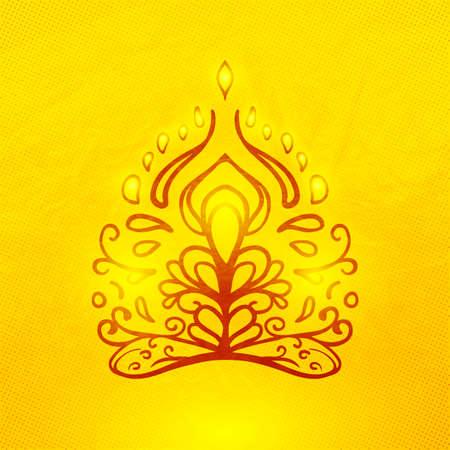 Vector abstract doodle buddha Stock Vector - 23850264