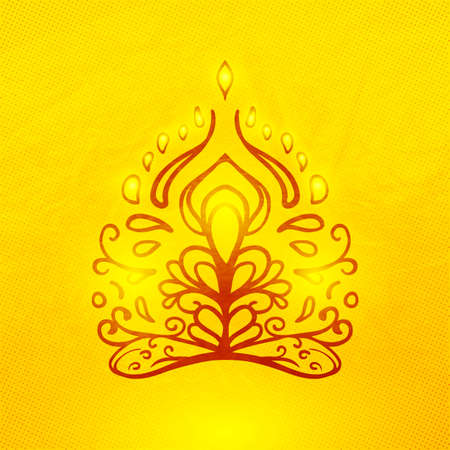 Vector abstracte doodle buddha Stock Illustratie