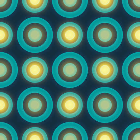 Blue colored retro seamless vector pattern with circles Vector