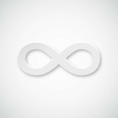 Infinity paper vector icon