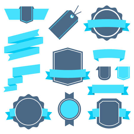 Vector Stickers and Badges Set 4. Flat Style. Vector