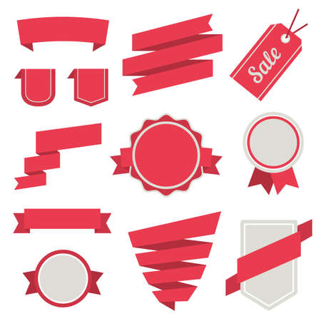 Vector Stickers and Badges Set 3. Flat Style. Illustration