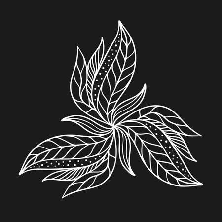 Vector flourish background black and white colored Vector