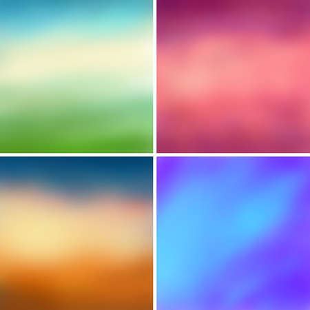 Arrière-plans colorés abstraits de vecteur floue