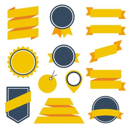 Vector Stickers Badges Stock Illustratie