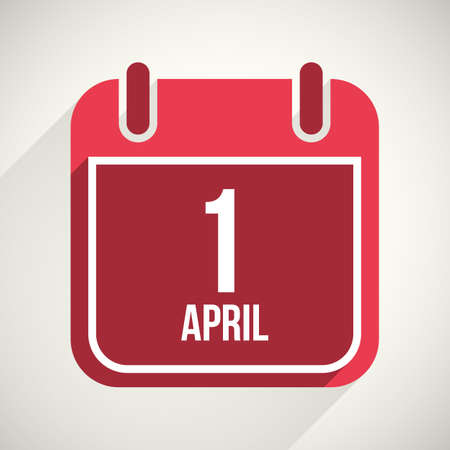 Vector flat calendar apps icon. 1 april fools day Illustration