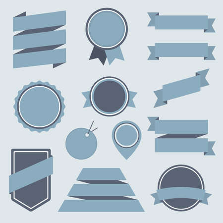 Vector Stickers and Badges Set 8. Flat Style. Vector