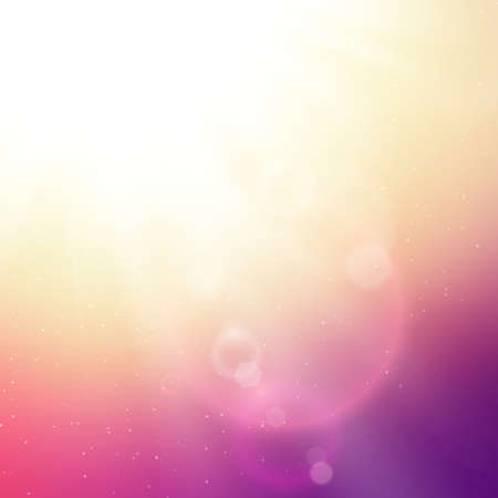 Vector abstract background with summer sun and lens flares Vector