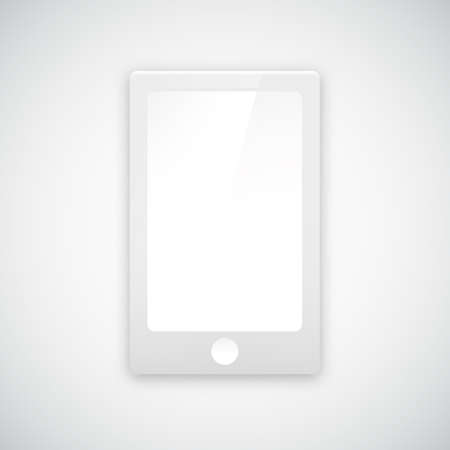Paper mobile phone icon with shadow Vector